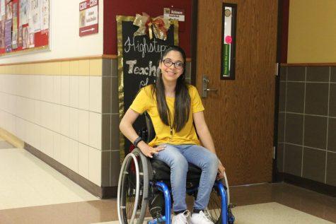 Freshman Mili Gallardo joins dance team this year at Heritage.