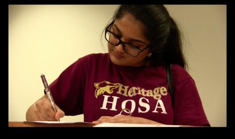 Sophomore Samyuktha Kumar is only one of the 183 members of the HOSA organization.
