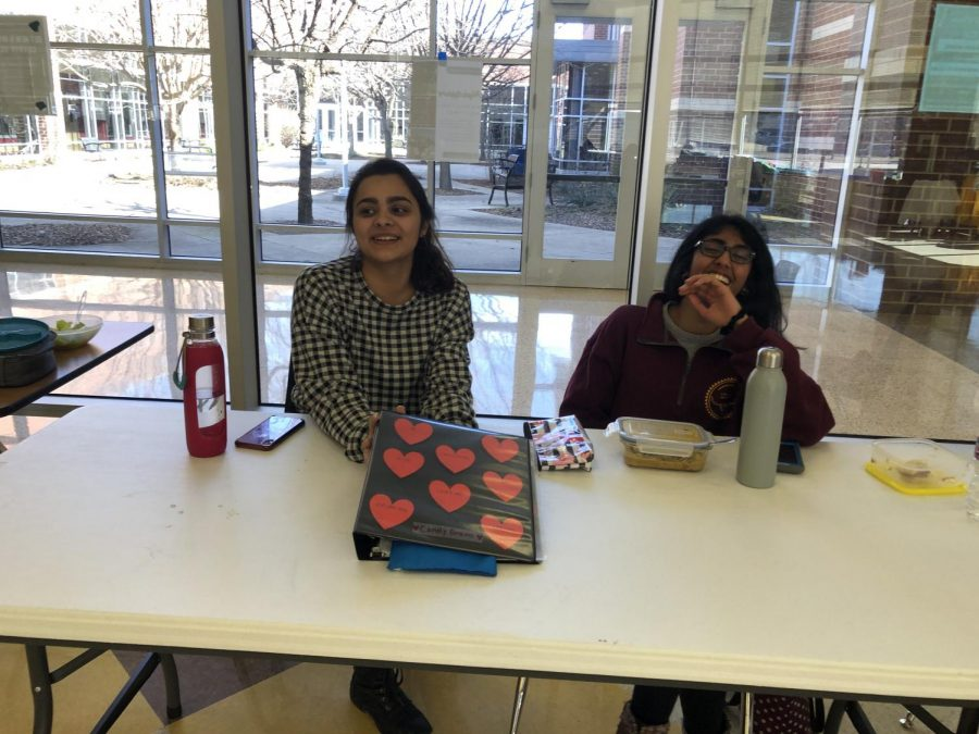 Members of the UNICEF Club gather together to sell candy grams during lunch.