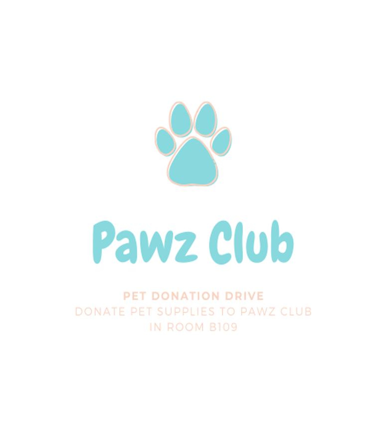 PAWZ Club Donation Drive